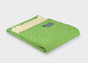 Grass Green Zigzag Throw - buy at The British Blanket Company