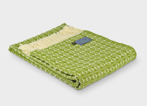 Apple Green Cobweave Throw - buy at The British Blanket Company