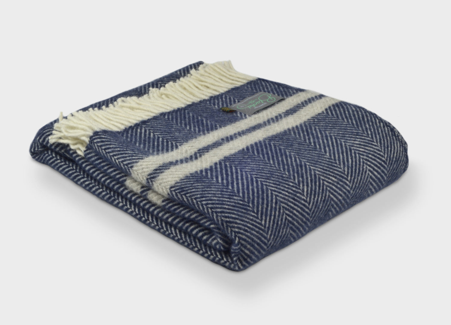 The British Blanket Company Blue And Mustard Throw