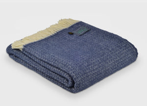 Slate Blue Windmill Throw - The British Blanket Company