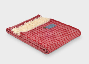 Fire Engine Red Zigzag Throw - buy at The British Blanket Company