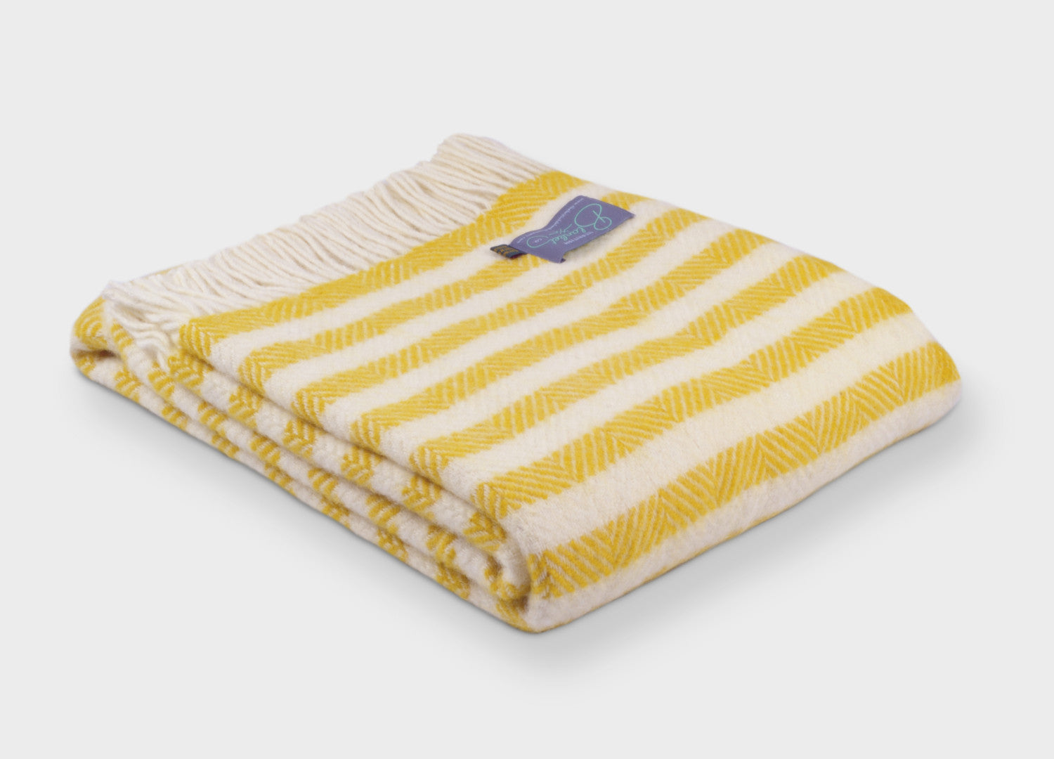 Yellow Lemon Sherbet Stripe Throw - buy at The British Blanket Company 387e21cf3