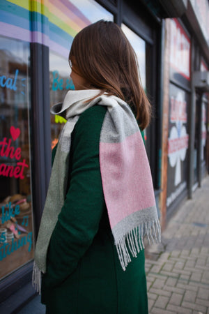 Heather Pink Lambswool Scarf