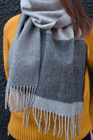 Shale Grey Lambswool Scarf