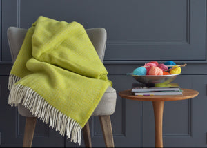 Zesty Yellow and Lime Windmill Throw