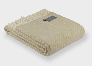 Natural Oat Beehive Throw - The British Blanket Company