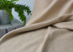 XL Basswood Supersoft Merino Herringbone Throw - buy at The British Blanket Company