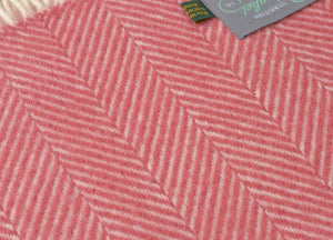 Lingonberry Herringbone Throw - buy at The British Blanket Company