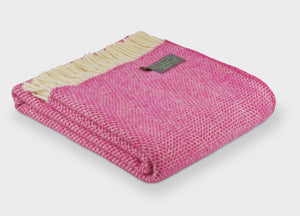 Cerise Pink Beehive Throw - buy at The British Blanket Company