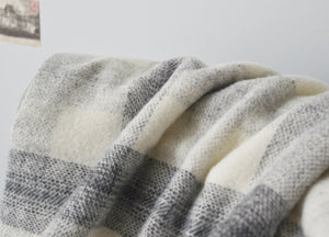 Grey Meadow Check throw - buy at The British Blanket Company