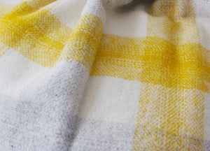 Yellow Meadow Check throw - buy at The British Blanket Company