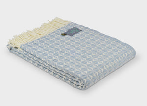 Duck Egg Blue Cobweave Throw - buy at The British Blanket Company