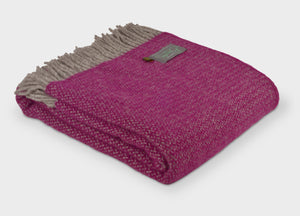 Grape and Grey Windmill Throw - buy at The British Blanket Company