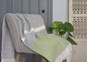 Fern Green Semaphore Throw - buy at The British Blanket Company