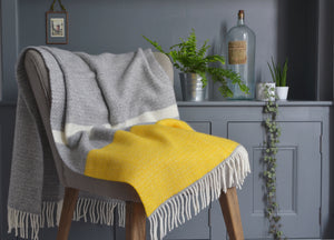 Yellow Semaphore Armchair Throw - buy at The British Blanket Company