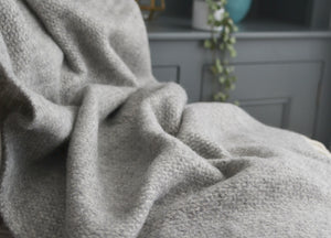 Soft Grey Windmill Armchair Throw - buy at The British Blanket Company