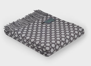Grey and Glacier Crossroads Throw
