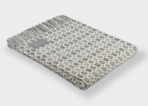 Grey Geo Merino Lambswool Throw - The British Blanket Company
