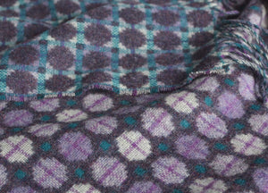 Heather Purple Geo Merino Lambswool Throw - buy at The British Blanket Company