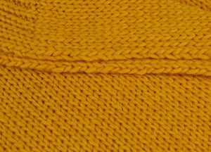 Mustard Knitted Alpaca Throw - buy at The British Blanket Company