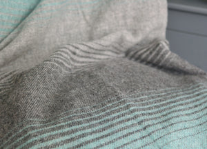 Mint Green and Grey Starry Night Throw - buy at The British Blanket Company