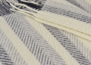 Monochrome Multistripe Throw - buy at The British Blanket Company