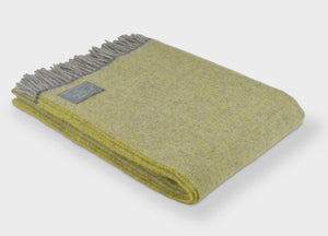 Muted Lemon and Grey Throw - The British Blanket Company