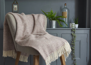 Natural Brown Windmill throw - buy at The British Blanket Company