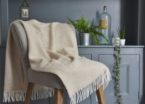 Natural Oat Beehive Armchair Throw - The British Blanket Company
