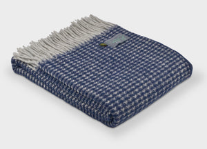 Navy Blue Treetop Throw - The British Blanket Company