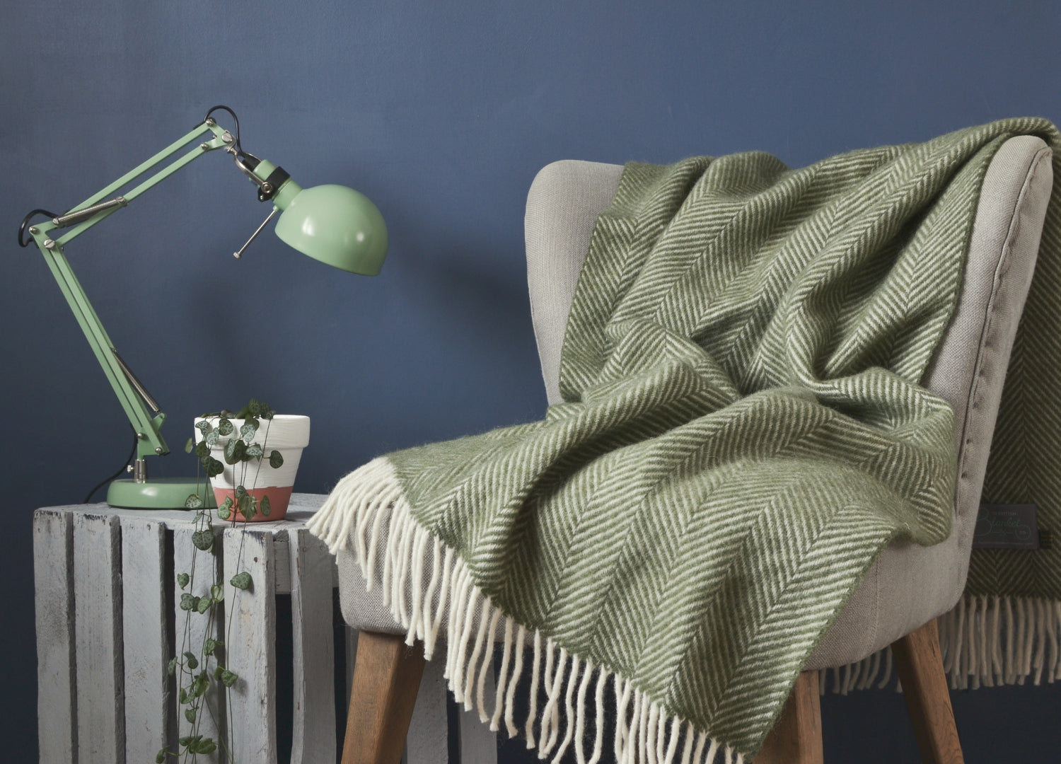 Superb Green Throws The British Blanket Company Download Free Architecture Designs Scobabritishbridgeorg