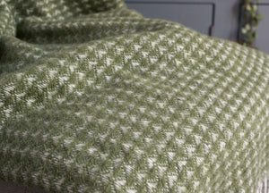 Olive Green Treetop Throw - The British Blanket Company