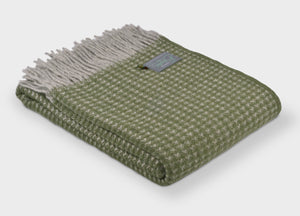 Olive Green Treetop Throw - buy at The British Blanket Company