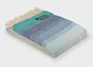 Seaside Blue Ombre Throw - buy at The British Blanket Company