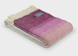 Rosewood Pink Ombre Throw - The British Blanket Company