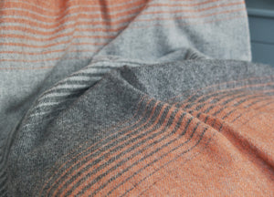 Orange and Grey Starry Night Throw - buy at The British Blanket Company