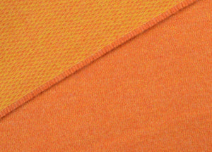 Orange and Mustard Reversible Supersoft Merino Throw - buy at The British Blanket Company