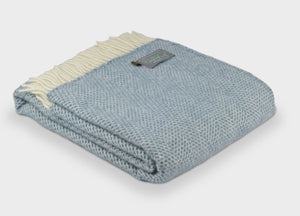 Petrol Blue Beehive Throw - The British Blanket Company