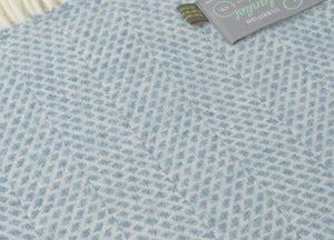 Petrol Blue Beehive Throw - buy at The British Blanket Company