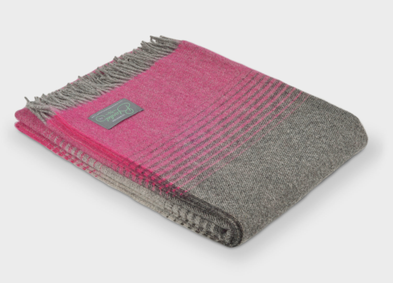 b2c44d535c Pink and Grey Starry Night Throw - buy at The British Blanket Company