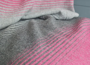 Pink and Grey Starry Night Throw - The British Blanket Company