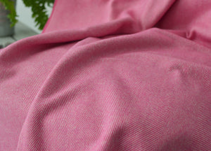 Raspberry Supersoft Merino Herringbone Throw - buy at The British Blanket Company
