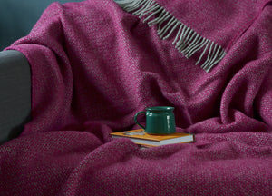 Grape and Grey Windmill Throw - The British Blanket Company