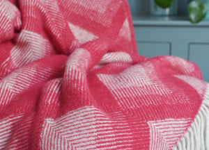 Watermelon Prism Throw - buy at The British Blanket Company