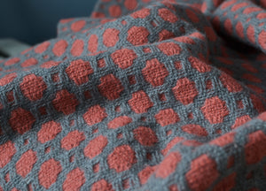 Grey and Redcurrant Crossroads Throw - The British Blanket Company