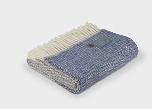 Slate Blue Semaphore Armchair Throw - The British Blanket Company