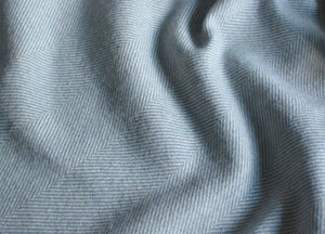 Smoke Blue Supersoft Merino Herringbone Throw - buy at The British Blanket Company