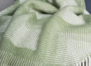 Fern Green Prism Throw - buy at The British Blanket Company