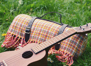 Woodstock Check Waterproof Picnic Blanket With Straps - buy at The British Blanket Company