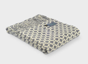 Soft Grey Crossroads Throw - The British Blanket Company